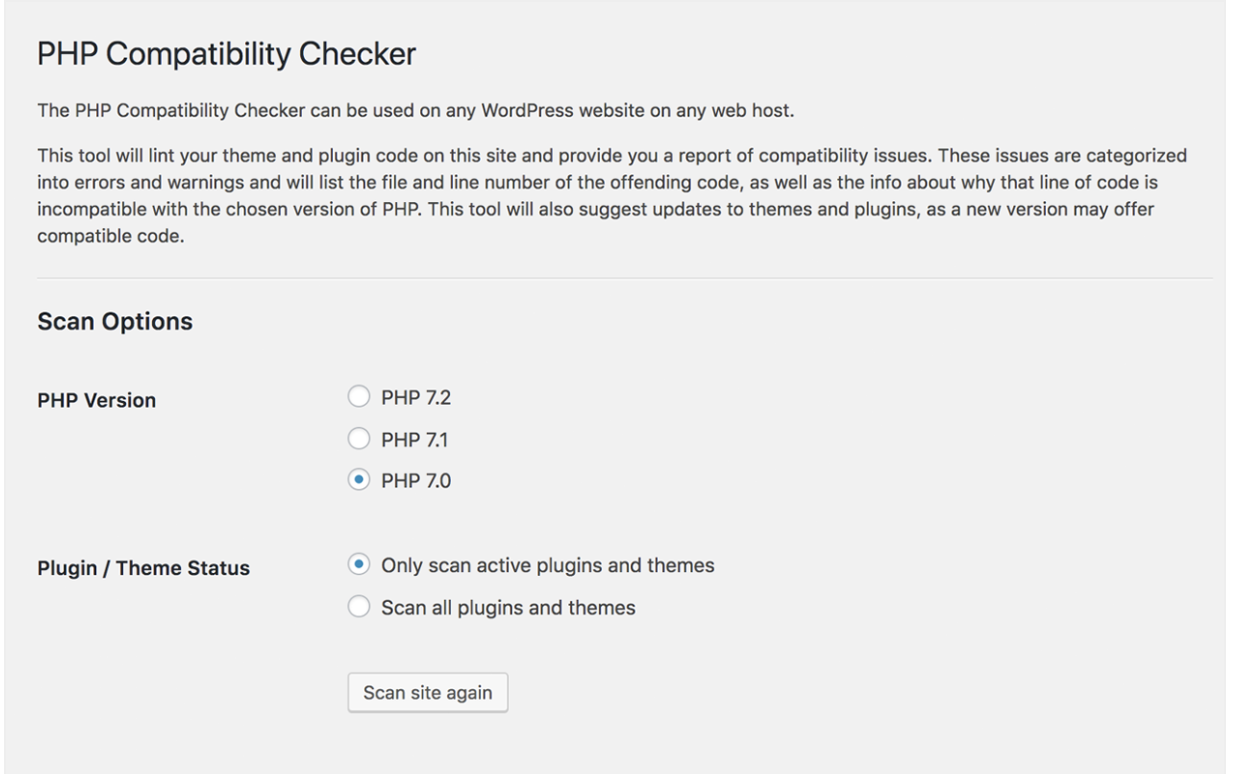 PHP Compatiblity Checker